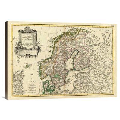 'Suede, Danemarck et Norwege, 1762' by Jean Janvier Graphic Art on Canvas by Global Gallery ...
