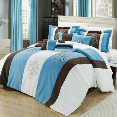 Vicky 12 Piece Comforter Set by Chic Home