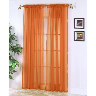 Chic Home Abby Solid Voile Rod Pocket Curtain Panels