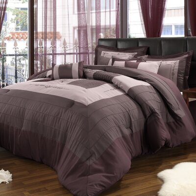 Violet 8 Piece Comforter Set by Chic Home