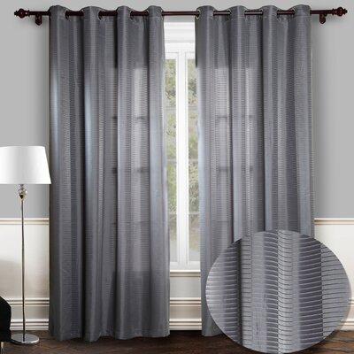 Chic Home Reign Jacquard Grommet Curtain Panels