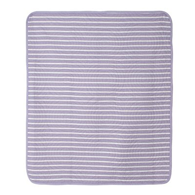 Violet Lavender Trellis and Candy Stripe Crib Quilt by CoCaLo