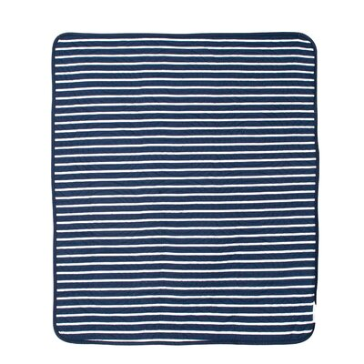 Connor Navy Trellis and Candy Stripe Crib Quilt by CoCaLo