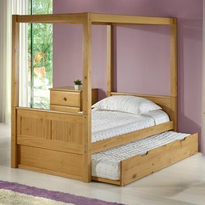 Twin Canopy Bed with Trundle by Camaflexi