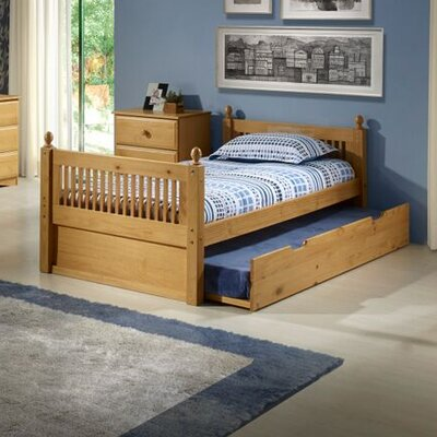 Twin Slat Bed with Trundle by Camaflexi