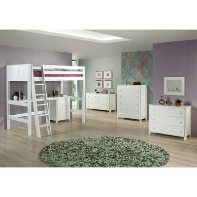 Camaflexi Twin Loft Bed Customizable Bedroom Set