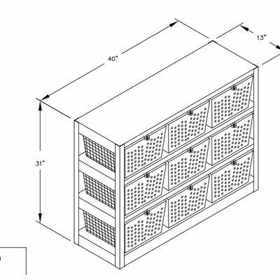 "Salsbury Industries Basket Cubby 31"" Cube Unit"