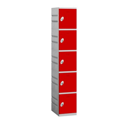 Salsbury Industries Unassembled Five Tier 1 Wide Locker