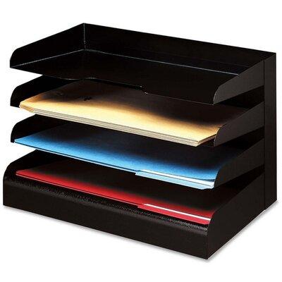 Buddy Products Desktop Organizer, 4 Tier, Legal, Horizontal, Black