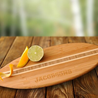 Personalized Gift Surfboard Bamboo Cutting Board by JDS Personalized Gifts