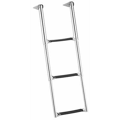 Garelick MFG. Company Eez-In 3 ft Steel Over Telescoping Drop Platform Extension Ladder