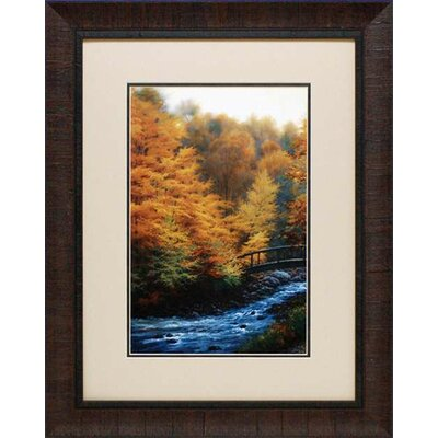 North American Art 'Autumn Stream' by Charles White Framed Painting Print