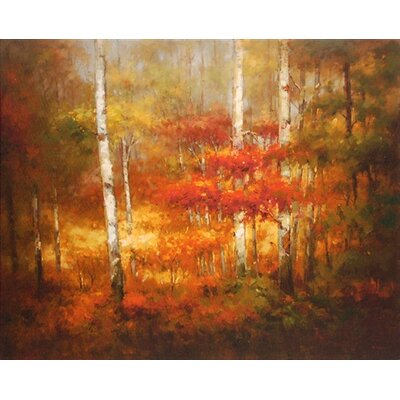 North American Art 'Change of Seasons II' by David Lakewood Painting Print on Wrapped Canvas