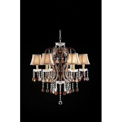 6 Light Crystal Chandelier by OK Lighting