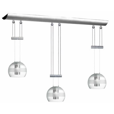 Industrial Chic 3 Light Kitchen Island Pendant By Radionic Hi Tech
