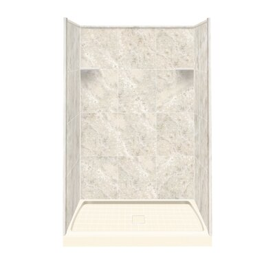Solid Surface Three Panel Shower Wall Kit Product Photo