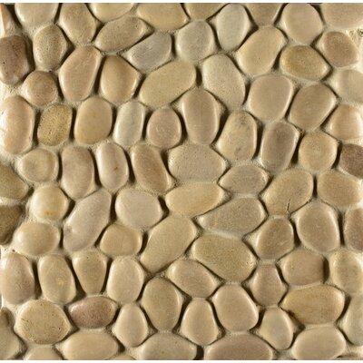 Hemisphere Random Sized Stone Pebble Tile in Antigua by Bedrosians