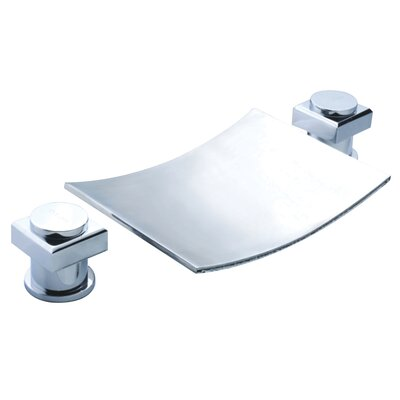 Double Handle Widespread Waterfall Bathroom Sink Faucet Product Photo