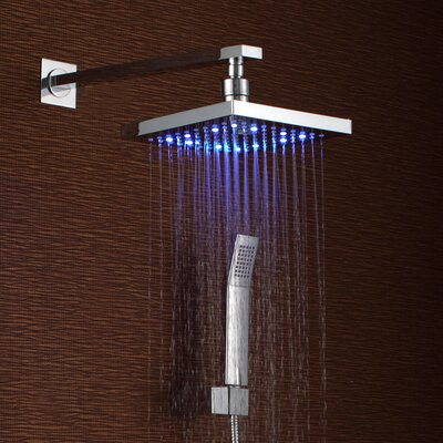 Volume Control LED Rainfall Shower Faucet Product Photo