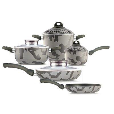 Army Bio-Ceramix Non-Stick 9 Piece Cookware Set by Pensofal