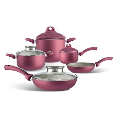 Uniqum Rubino 9-Piece Cookware Set by Pensofal