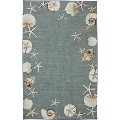 Escape Waimea Bay Sea Blue Area Rug