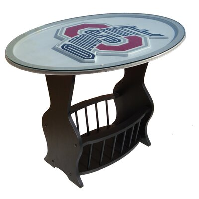 Fan Creations NCAA Glass End Table