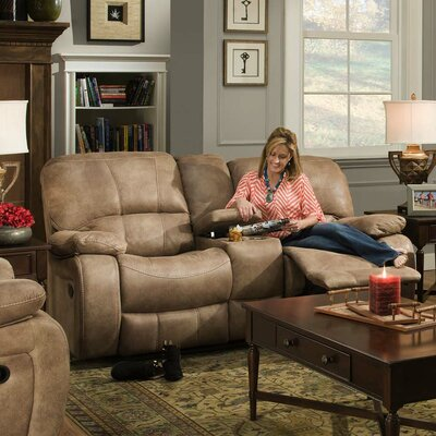 Poncho Double Reclining Loveseat with Console by Lee Furniture