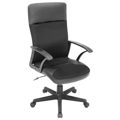 Regency Imperial High-Back Leather & Fabric Swivel Executive Chair