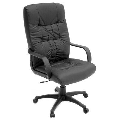 Regency Posh High-Back Leather with Nylon Base Swivel Executive Chair