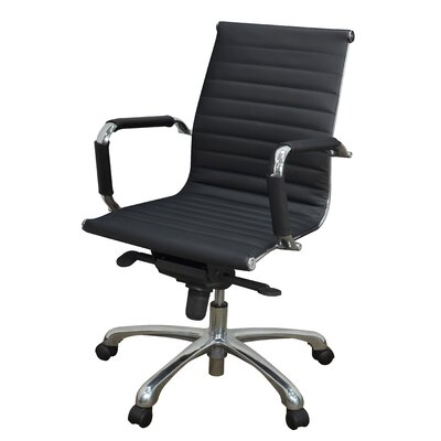 Regency Solace Mid Back Leather Professional Chair with Arms