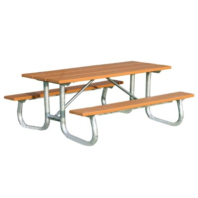 Plastic Picnic Table : ... Recycled Plastic Galvanized Picnic Table & Reviews  Wayfair