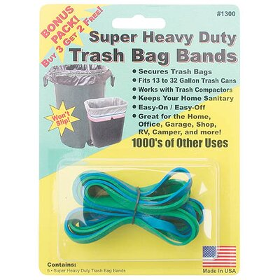 Creative Sales Company Super Heavy Duty Trash Bag Band (5 Count)
