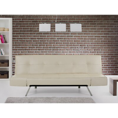 Bristol Bonded Leather Convertible Sleeper Sofa by Beliani