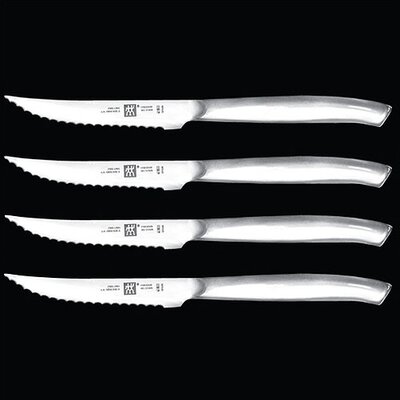 4-Piece Stainless Steel Steak Knife Set (A $75 Value!) by Zwilling JA Henckels