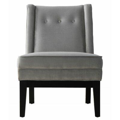 Alexander Velvet Side Chair in Grey by TOV