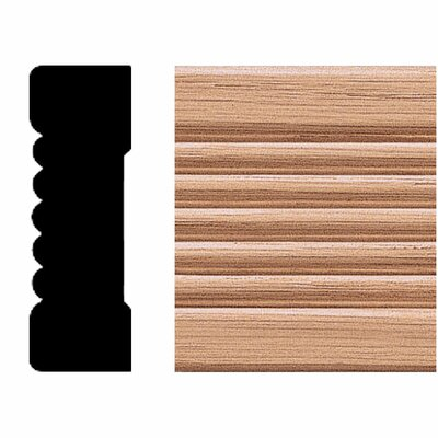 Manor House 3/4 in. x 2-1/4 in. x 8 ft. Oak Fluted Casing Moulding