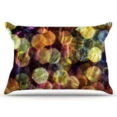 Warm Sparkle Pillowcase by KESS InHouse