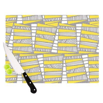 Jaggi Yellow Grey by Gill Eggleston Cutting Board by KESS InHouse