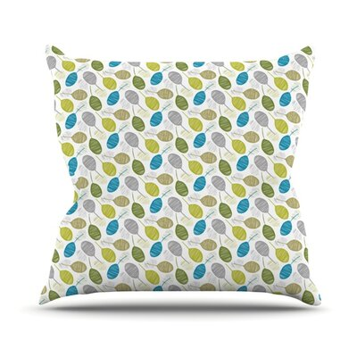 Tangled Teal Outdoor Throw Pillow by KESS InHouse
