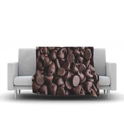 Yay! Chocolate by Libertad Leal Fleece Throw Blanket by KESS InHouse