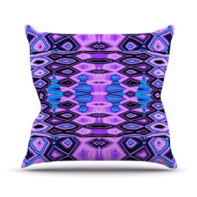 Deztecca Lilac by Nina May Throw Pillow by KESS InHouse