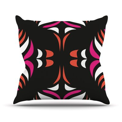 Magenta Orange Hawaiian Retro Throw Pillow by KESS InHouse