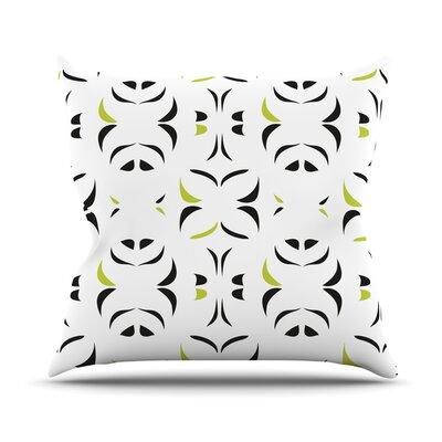 Retro Green Snow Storm Throw Pillow by KESS InHouse