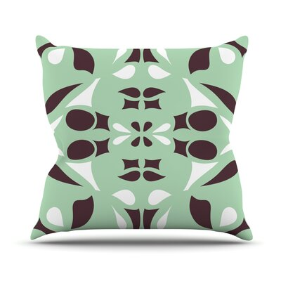 Swirling Teal Throw Pillow by KESS InHouse