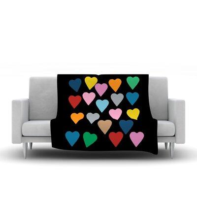 Hearts Throw Blanket by KESS InHouse