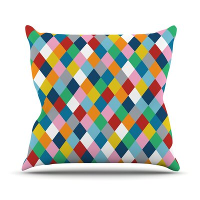 Harlequin Zoom Throw Pillow by KESS InHouse