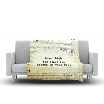Reach High by Robin Dickinson Fleece Throw Blanket by KESS InHouse