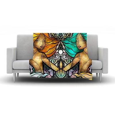 Mermaid Twins Throw Blanket by KESS InHouse