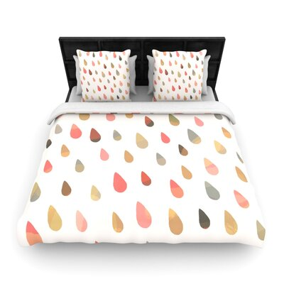 Opal Drops by Daisy Beatrice Woven Duvet Cover by KESS InHouse